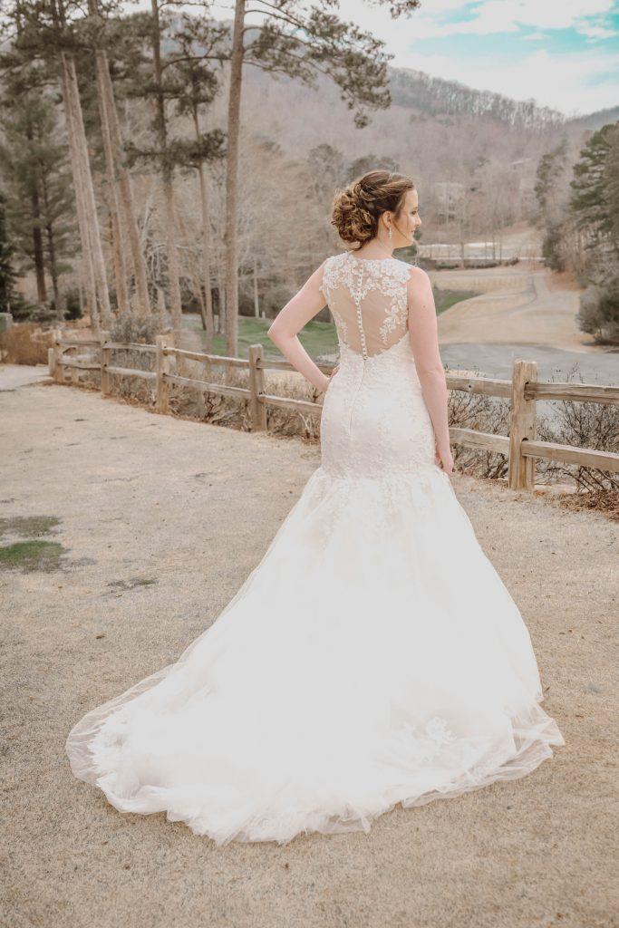 bride striking a pose