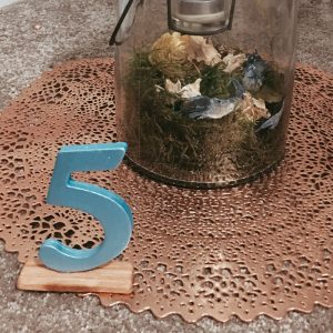 hand painted easy diy table number craft