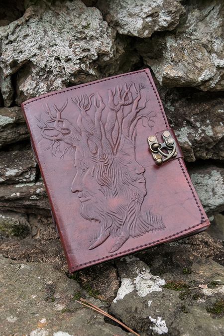 leather engraved vow book