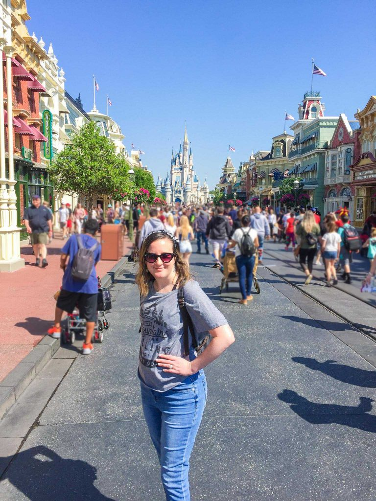 standing on walt disney world main street