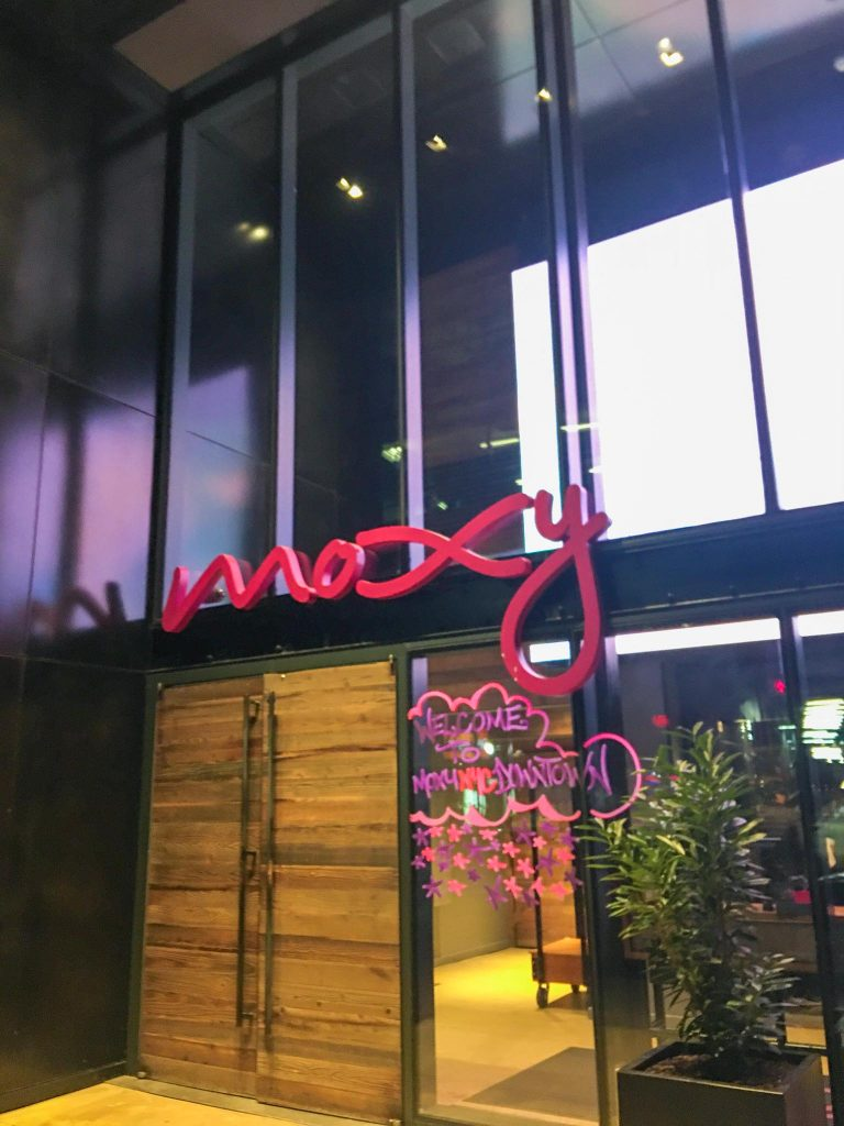 moxy nyc downtown street entrance