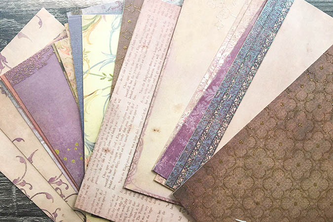 beautiful cardstock paper designs with vintage vibes