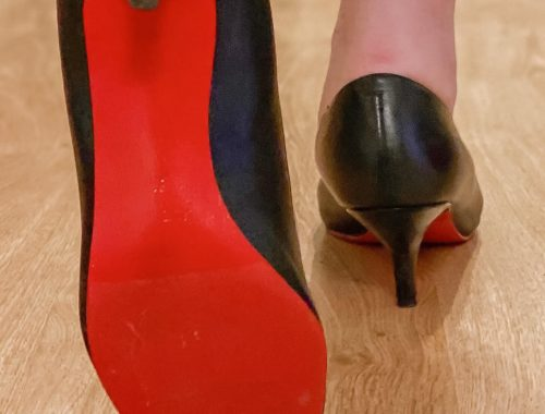 diy red bottom heels